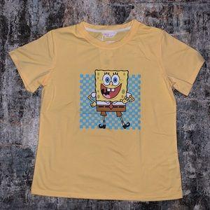 🆕Sponge Bob x Romwe Short Sleeve Shirt Size Small